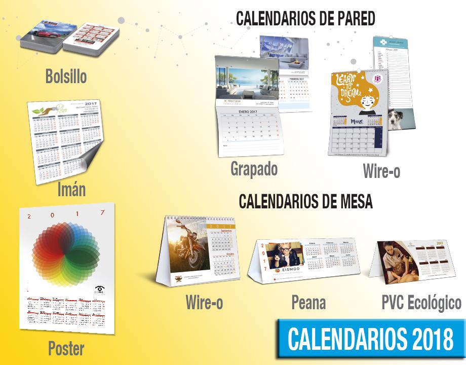 calendarios personalizados 2018