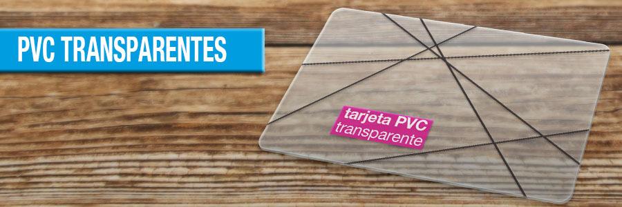 Tarjetas de Visita PVC Transparente