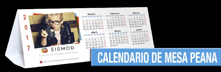 Calendario de Mesa con peana
