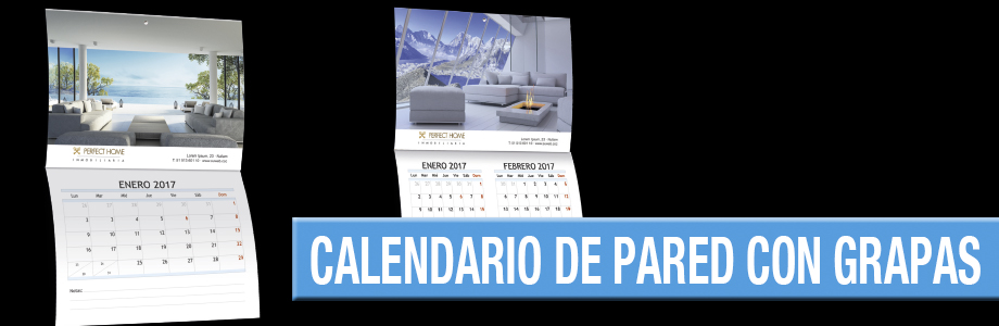 Calendario de Pared con grapas