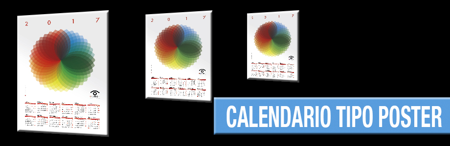 Calendario tipo poster