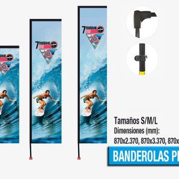 Banderolas Exteriores Playa