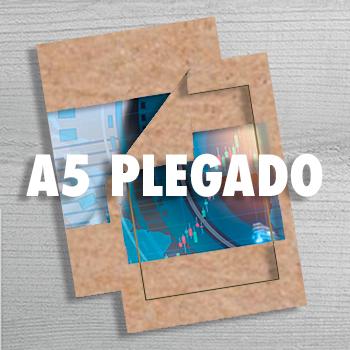 A5 plegado papel Kraft