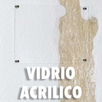 PLACA DE VIDRIO ACRILICO