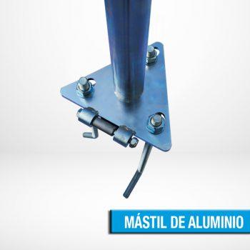 MÁSTIL DE ALUMINIO ABATIBLE